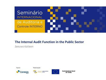 The Internal Audit Function in the Public Sector