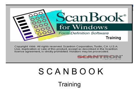 S C A N B O O K Training. INSTALLING SCAN BOOK Installation: I Scan Book Insert the installation CD into your Cd-Rom drive. Click Start then Run. Type.
