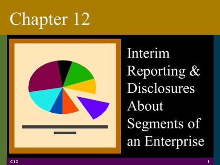 C121 Chapter 12 Interim Reporting & Disclosures About Segments of an Enterprise.