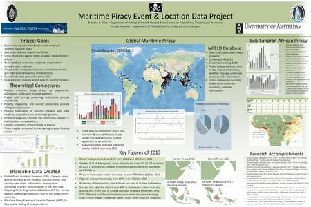 Maritime Piracy Event & Location Data Project Brandon C. Prins – Department of Political Science & Howard Baker Center for Public Policy, University of.