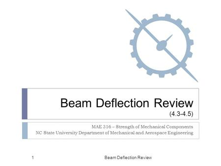 Beam Deflection Review ( )