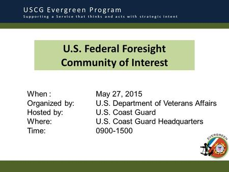 U.S. Federal Foresight Community of Interest