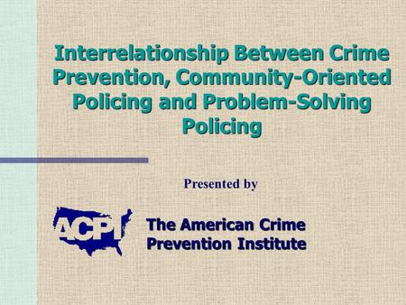 community and problem solving policing essays