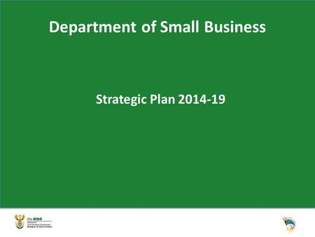 Department of Small Business Strategic Plan 2014-19.