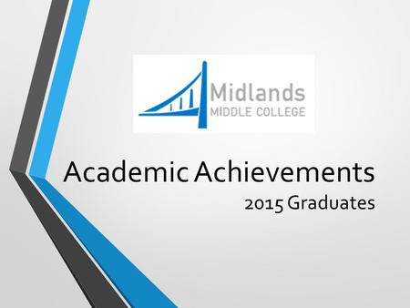 Academic Achievements 2015 Graduates. Graduating Students' Post-Secondary Plans.