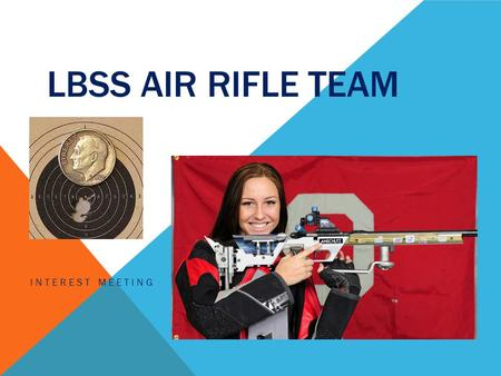 LBSS AIR RIFLE TEAM INTEREST MEETING. COACH Oscar Starz – Head Coach Board Member of the Izaak Walton Chapter NRA Certified Rifle Coach Four years with.