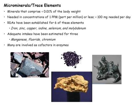Microminerals/Trace Elements