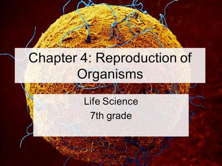 Chapter 4: Reproduction of Organisms Life Science 7th grade.