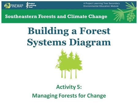 Building a Forest Systems Diagram Activity 5: Managing Forests for Change.