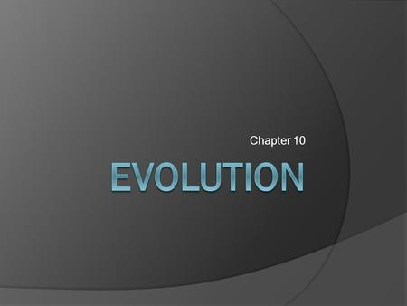 Chapter 10. Review Early Ideas about Evolution  Last week, we investigated some of the scientists who had contributed to the theory of evolution  Before.