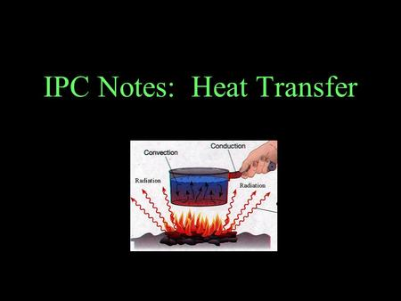 IPC Notes: Heat Transfer