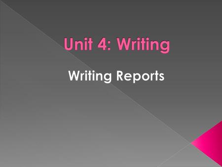 A report is a systematic, well organized document which defines and analyses a subject or problem, and which may include:  the record of a sequence of.