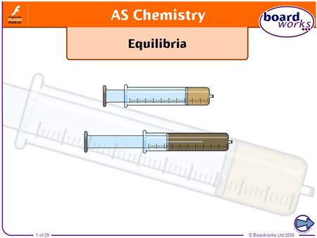 Boardworks AS Chemistry Equilibria