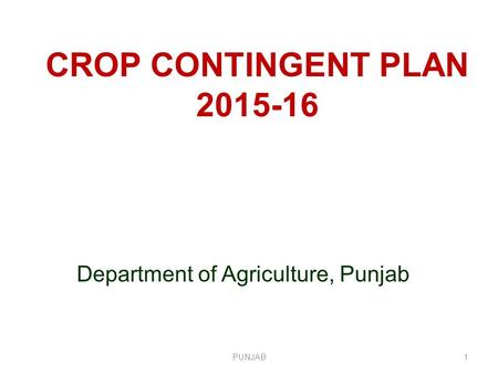 Department of Agriculture, Punjab