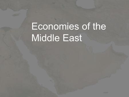 Economies of the Middle East