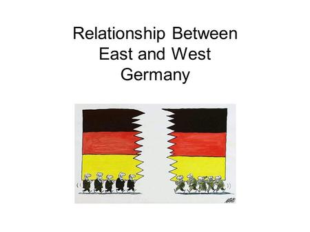 relationship between east and west germany