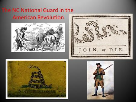 The NC National Guard in the
