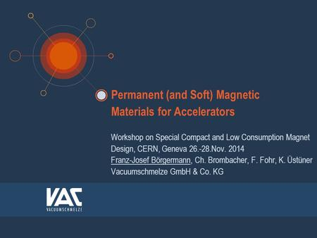 Permanent (and Soft) Magnetic Materials for Accelerators