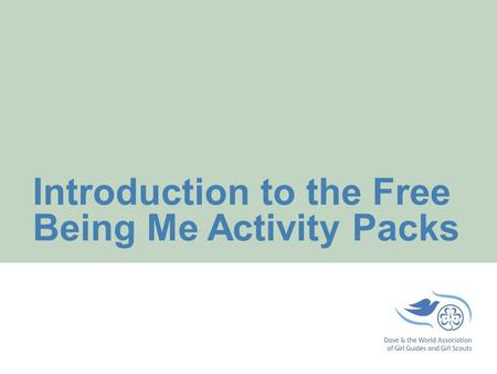 Introduction to the Free Being Me Activity Packs.