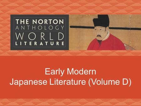Early Modern Japanese Literature (Volume D)