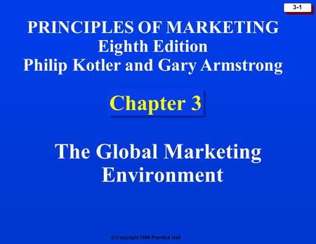 The Global Marketing Environment