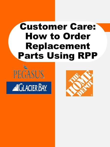 Customer Care: How to Order Replacement Parts Using RPP.