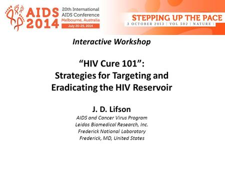 Strategies for Targeting and Eradicating the HIV Reservoir
