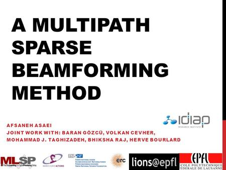 A Multipath Sparse Beamforming Method