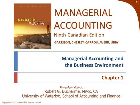 Managerial Accountant's Role in Business Planning