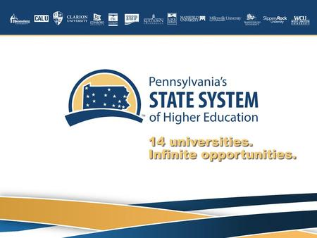 PENNSYLVANIA'S STATE SYSTEM OF HIGHER EDUCATION Doing Business with Pennsylvania's State System of Higher Education (State System) Supplier Overview October.