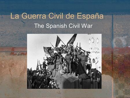 thesis spanish civil war
