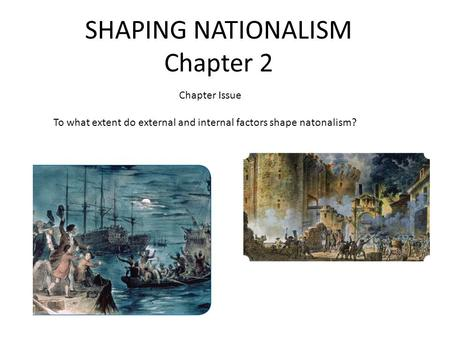 SHAPING NATIONALISM Chapter 2