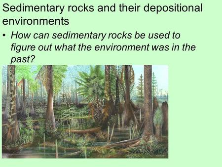 Sedimentary rocks and their depositional environments