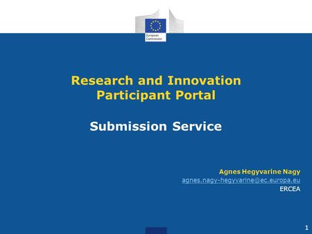 Research and Innovation Participant Portal Submission Service