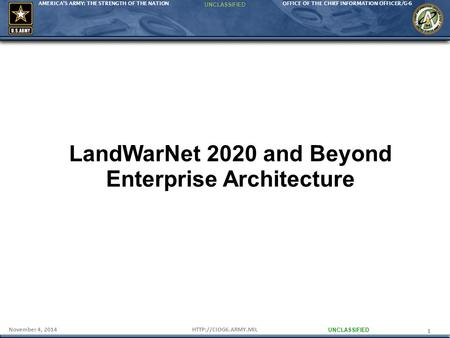 LandWarNet 2020 and Beyond Enterprise Architecture