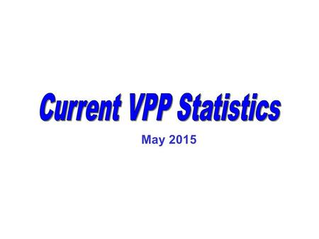 May 2015. Growth of VPP Federal Only As of 05/31/2015 Source: OSHA, Office of Partnership & Recognition * Number reflects active participants at the close.