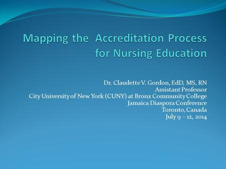 Mapping the Accreditation Process for Nursing Education