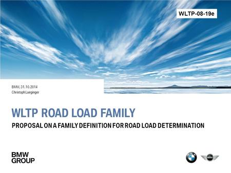 WLTP-08-19e BMW, Christoph Lueginger WLTP Road Load Family