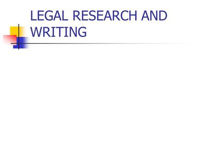 legal writing and research class