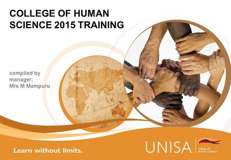 COLLEGE OF HUMAN SCIENCE 2015 TRAINING