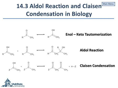 14.3 Aldol Reaction and Claisen Condensation in Biology