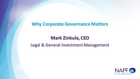Why Corporate Governance Matters