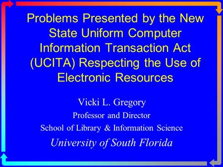 uniform computer information transactions act ucita essay State variations can also be found at the legal information institute's uniform commercial code locator  the uniform computer information transactions act,.