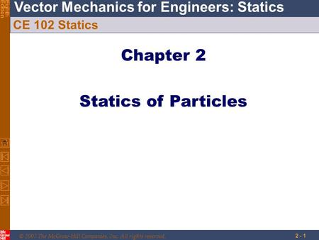 Chapter 2 Statics of Particles