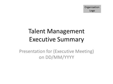 Talent Management Executive Summary