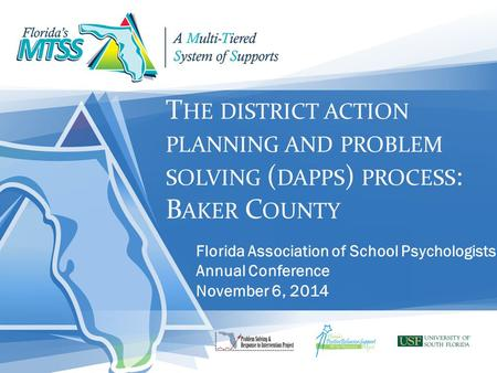 Florida Association of School Psychologists Annual Conference
