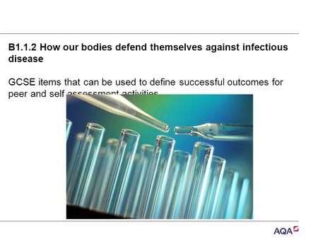 B1.1.2 How our bodies defend themselves against infectious disease