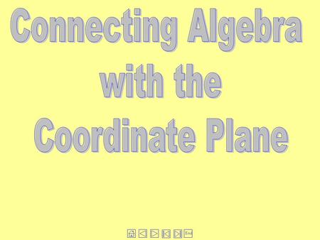Connecting Algebra with the Coordinate Plane.