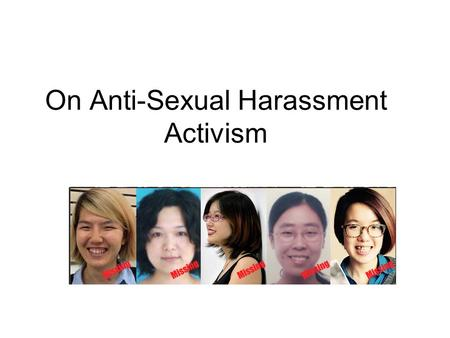 On Anti-Sexual Harassment Activism. Over ten activists were interrogated in multiple cities Five of them were detained on 3/8 at Haidian District Detention.
