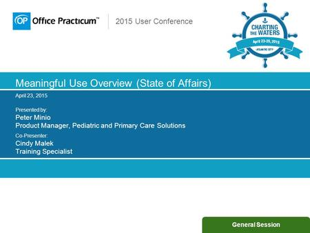 Meaningful Use Overview (State of Affairs)